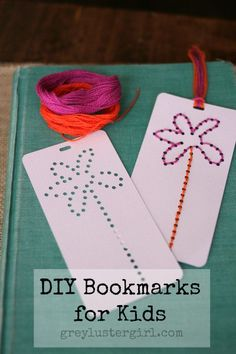 DIY Summer Reading Bookmarks for kids made with the rhinestone setting of the Silhouette software. Sewing Projects For Kids, Sewing For Kids, Diy For Kids, Crafts For Kids, Craft Projects, Reading Bookmarks, Bookmarks Kids, Fun Crafts, Paper Crafts