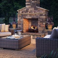 outdoor fireplace | Outdoor Kitchens, Fireplaces and Pizza Ovens | Danna Pools Inc.