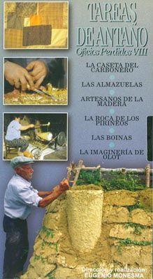 DVD DOC 192 - Tareas de antaño (2004) España. Dir: Eugenio Monesga. Documental. Contén, entre outros: DVD 1: El toque de campanas. La cestería de castaño. La majada pastoril - DVD 2: Bordadoras serranas. Los sombreros. Las escobas - DVD 3: El pozo de hielo. La mantequera. El carbón de carrasca - DVD 4: La caseta del carbonero. Las almazuelas. Artesanos de la madera. La roca de los Pirineos. Las boinas. La imaginería de Olot - DVD 5: La silla de montar. Las obleas. El maestro rural