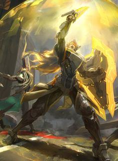 League of Legends, Project Leona Fan Art Lucian League Of Legends, Leona League Of Legends, Fanart, Starcraft, Character Art, Character Design, Sci Fi Fantasy, Paladin, Manga