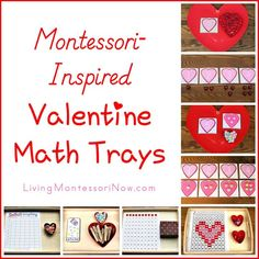 Montessori-inspired Valentine trays created using free printables . includes directions and links to free printables! Preschool Gifts, Preschool Classroom, Classroom Ideas, Saint Valentine, Valentines Day Hearts, Valentines Day Activities, Valentine Crafts, School Holiday Crafts, Preschool Lesson Plans