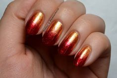 red-yellow shimmer gradient