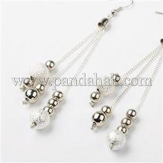 Boho Stardust Chained Earrings EJEW-PJE666