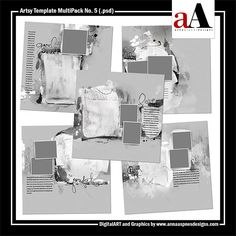 <p> A collection of 12 X 12 Artsy layered templates featuring numerous masks designed for use with the clipping mask function or for recoloring in Photoshop, Elements and Paint Shop Pro.</p>by #annaaspnes of #aA designs #annaaspnes #digitalart #digitalartist #digitalartistry #digitalcollage #collage #digitalphotography #photocollage #art #design #artjournaling #digital #digital #scrapbooking #digitalscrapbooking #scrapbook #modernart #memorykeeping #photoshop #photoshopelements #design…