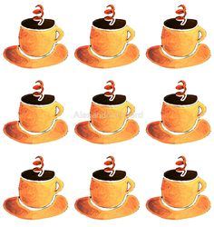 Coffee Cup Pattern by Alexandra Orford