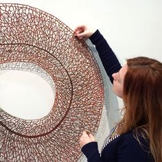 Fragility of Nature in Knotted Embroidery Threads by Meredith Woolnough | The Dancing Rest http://thedancingrest.com/2014/10/04/fragility-of-nature-in-knotted-embroidery-threads-by-meredith-woolnough/