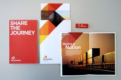 """Modern Brand Design Inspiration Identity design for QR National by Cornwell. """" """"QR needed to separate its coal and freight assets from its passenger business, and define a new corporate entity in. Print Layout, Layout Design, Design Art, Print Design, Graphic Design Branding, Identity Design, Brochure Design, Layout Inspiration, Graphic Design Inspiration"""
