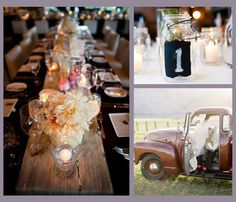 country themed weddings centerpieces | Theme Thursday: Country Picnic Wedding | Oh, What Love Studios | The ...