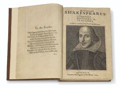 SHAKESPEARE, William (1564-1616). Comedies, Histories, and Tragedies. Published according to the True Originall Copies. Edited by John Heminges (d. 1630) and Henry Condell (d. 1627). London: Isaac Jaggard and Edward Blount at the Charges of W. Jaggard, Ed. Blount, I. Smithweeke, and W. Aspley, 1623. Shakespeare History, William Shakespeare, Royal Shakespeare Company, French Quotes, Spanish Quotes, First Folio, Gardner Museum, Strong Quotes, Art World