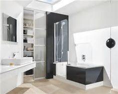 Badewanne Mit Dusche Kleine Badezimmer Weiße Wanne Tiefes Waschbecken Moderne Bäder