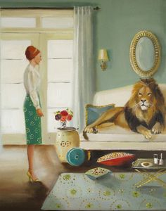The Houseguest by Janet Hill - art print from King