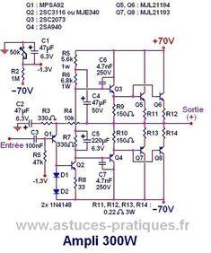 2000w power amplifier circuit diagram phase linear uv8 wiring 200w mosfet based irfp250n schematic design audio in ampli 300w ultra simple schema et typon 2