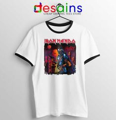 Iron Maiden Mando Ringer Tee The Mandalorian Band T-shirts Lebron James 12, Ghost Rider 4, Avocado Cartoon, Jeep Clothing, Avatar Cartoon, 17 Black, Ringer Tee, Iron Maiden, Mandalorian