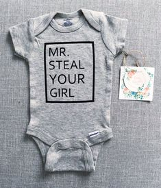 Steal Your Girl Onesie® Ladies I Have Arrived Onesie® Boy Onsies, Cute Onesies, Custom Baby Onesies, Cute Baby Clothes, Babies Clothes, Babies Stuff, Carters Baby, Baby Boys, Toddler Boys
