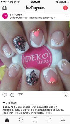 Unicorn Nails, Dani, Nail Decorations, My Beauty, Triangles, Nail Ideas, My Nails, Nail Art, Makeup