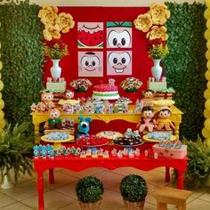 Festa Turma da Mônica para os 7 anos da Gabriela!!!  #festaturmadamonica #festainfantil #festa #decoracao #decoracaoturmadamonica #instaparty #paulavasconcellos #bombocado Easy Summer Dinners, Snow White Birthday, Happy Party, Malu, Childrens Party, Holidays And Events, Event Planning, Party Themes, Birthday Parties