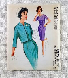 Vintage Pattern 1960s McCall's 6375 Sewing by momandpopcultureshop