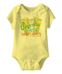 Look at this Banana 'Baby Feet' Bodysuit - Infant on #zulily today!
