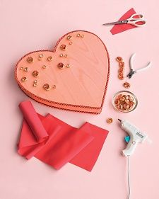 Tuck a note, a photo, or some sweets inside this easy-to-make bejeweled Valentine's Day box and give as a gift.