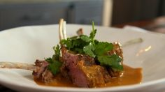 Look at this recipe - Rack of Lamb with a Saffron Sauce - from Reza Mahammad and other tasty dishes on Food Network.