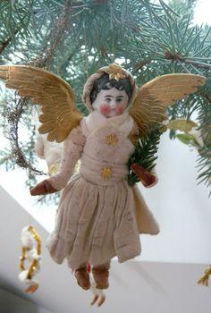 Christbaumschmuck aus watte mit Antike Puppe Porzellankopf, Engel in Sammeln & Seltenes, Saisonales & Feste, Weihnachten & Neujahr | eBay!