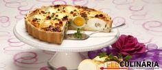 Receita de Quiche de ovos cozidos. Descubra como cozinhar Quiche de ovos cozidos de maneira prática e deliciosa com a Teleculinária!