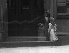 Photo taken at outside the Royal Bank Branch, Notre Dame Street, Montreal, Canada in 1911 (possible that this is simply a long exposure). Shutter Island, Spirit Photography, Levitation Photography, Surrealism Photography, Exposure Photography, Water Photography, Photography Gallery, Royal Bank, Bank Branch