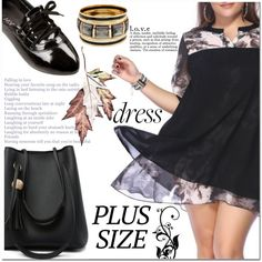 A fashion look from September 2016 by jecakns featuring Pieces, outfit, dress, plussize and falltrend