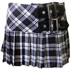 Hell Bunny Chelsea Mini Skirt White | Gothic Clothing | Emo clothing | Alternative clothing | Punk clothing - Chaotic Clothing ($26) found on Polyvore