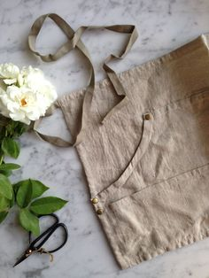 Natural Linen workers apron