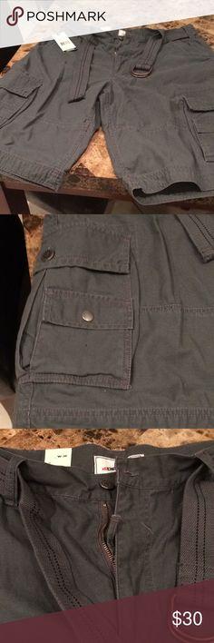 Men's NWT Decibel Dark grey cargos Decibel Shorts Cargo