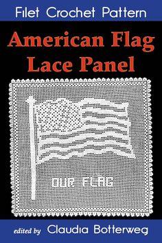 American Flag Lace Panel Filet Crochet Pattern