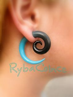 Fake ear tentacle gauge  Faux gauge/Gauge by RybaColnce on Etsy, $14.00
