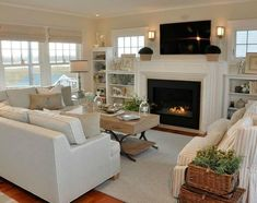 Experts Are Saying About Long Living Room Layout 84 Living Room Furniture Arrangement, Living Room Decor Cozy, Coastal Living Rooms, Small Living Rooms, Arranging Furniture, Cozy Living, Living Room Furniture Layout, Living Area, Salons Rectangulaires