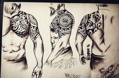 And we got loads more! Viking Tribal Tattoos, Polynesian Tribal Tattoos, Celtic Tattoos, Tattoos Arm Mann, Arm Tattoos For Guys, Body Art Tattoos, Hand Tattoos, Maori Tattoo Designs, Tattoo Sleeve Designs