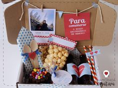 festa na caixa Para Namorado Love Gifts, Diy Gifts, Ideas Para Fiestas, Party In A Box, Diy Party Decorations, Valentines Diy, Boyfriend Gifts, Diy And Crafts, Gift Wrapping