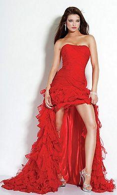 Vestiti lunghi eleganti rossi | Stile e bellezza