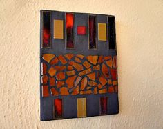 Tile mosaic wall art by AmberMosaic on Etsy