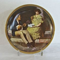 "Norman Rockwell Knowles Plate ""Pondering on the Porch"""