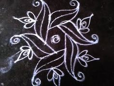 Rangoli Kolam Design with dots 5-3 - YouTube