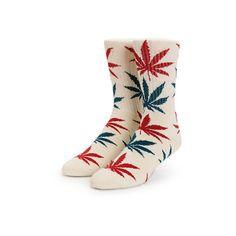 HUF Blossom Plantlife Crew Socks ($15) ❤ liked on Polyvore featuring intimates, hosiery, socks, crew cut socks, crew socks, crew length socks, huf and huf socks