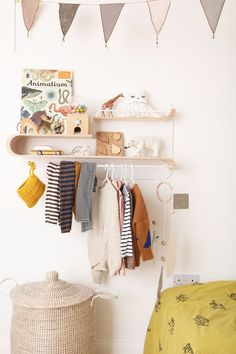 Clothes rack for children's rooms - Rafa-kids L shelf