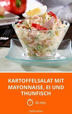 Kartoffelsalat mit Mayonnaise, Ei und Thunfisch