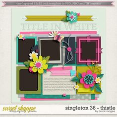 Brook's Templates - Singleton 36 - Thistle by Brook Magee - FREEBIE!
