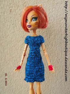 Vestido para Monster High v307 de My Monster High Boutique por DaWanda.com