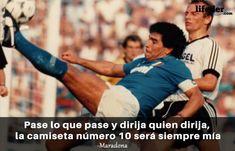 123 Frases de Fútbol Motivadoras de los Mejores de la Historia - Lifeder Messi, Ronaldo, Zidane, Diego Armando, Baseball Cards, Poster, River, Training, T Shirts