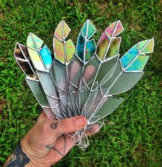 free people stained glass feathers