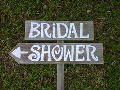 BRIDAL SHOWER Wedding Signs Handpainted 1 Sign on 1 stake. Road Signs everything-wedding Wedding Shower Signs, Bridal Shower Signs, Bridal Shower Party, Bridal Shower Decorations, Diy Wedding Decorations, Wedding Signs, Wedding Ideas, Wedding Fun, Wedding Stuff