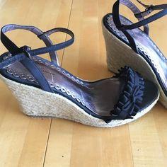 Black strap shoe Nordstrom boutique black satin ribbon high heel strap shoe. Worn once Nordstrom Boutique Shoes Heels