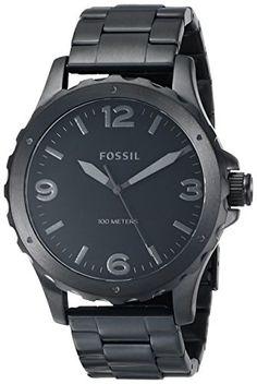 Fossil Men's JR1458 Nate Three-Hand Stainless Steel Watch - Black Fossil http://www.amazon.com/dp/B00FWXFOR4/ref=cm_sw_r_pi_dp_fRJCub0AF4K12